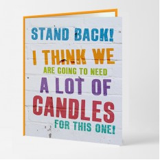 Hampers and Gifts to the UK - Send the A Lot of Candles Birthday Card