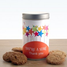 Hampers and Gifts to the UK - Send the You're A Star Tin with a Dozen Cookies