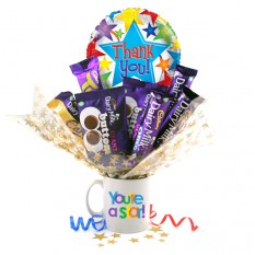 Hampers and Gifts to the UK - Send the Thank You You're A Star Chocolate Bouquet In A Mug