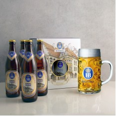 Hampers and Gifts to the UK - Send the Hofbräu Beer Gift Pack with Stein Beer Glass