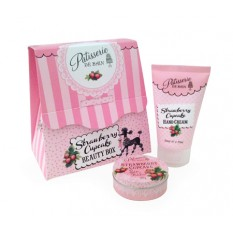 Hampers and Gifts to the UK - Send the Patisserie De Bain Strawberry Gift Box