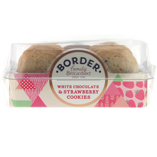 Hampers and Gifts to the UK - Send the Border Biscuits - White Chocolate and Strawberry Cookies