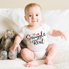 Hampers and Gifts to the UK - Send the The Snuggle is Real Baby Onesie