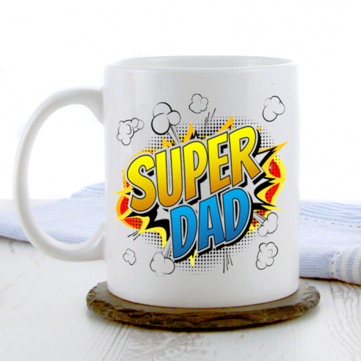Hampers and Gifts to the UK - Send the Super Dad Coffee Mug