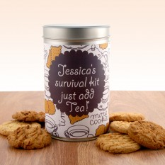 Hampers and Gifts to the UK - Send the Personalised Gift In A Tin - ANY NAME Survival Kit