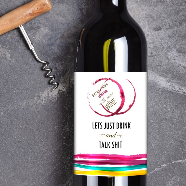 Hampers and Gifts to the UK - Send the Everything is Better With Some Wine Gift Set