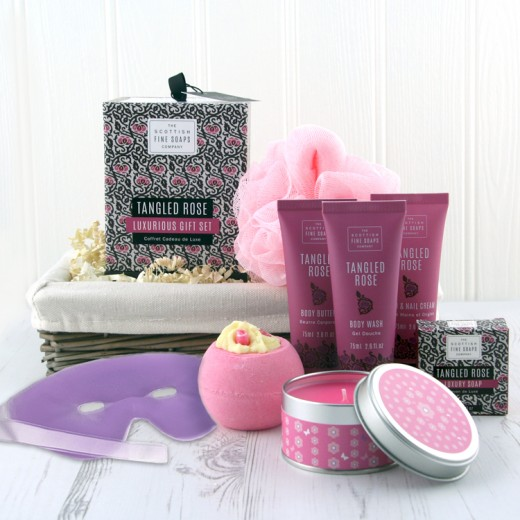 Hampers and Gifts to the UK - Send the Tangled Rose Pamper Hamper
