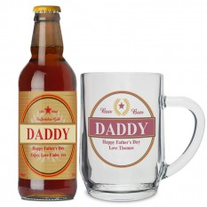 Hampers and Gifts to the UK - Send the Personalised Luxury Beer and Tankard Set