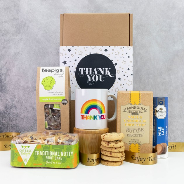 Hampers and Gifts to the UK - Send the Tea and Cake Rainbow Thank You Hamper