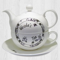 Hampers and Gifts to the UK - Send the Bone China Tea For One Set - Personalised