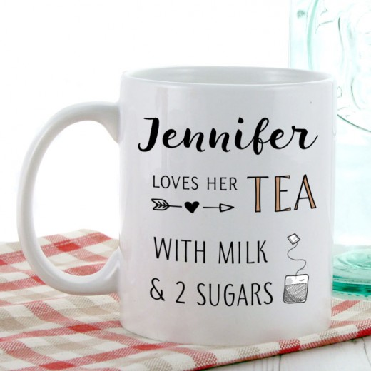 Hampers and Gifts to the UK - Send the Personalised Tea Lover Mug
