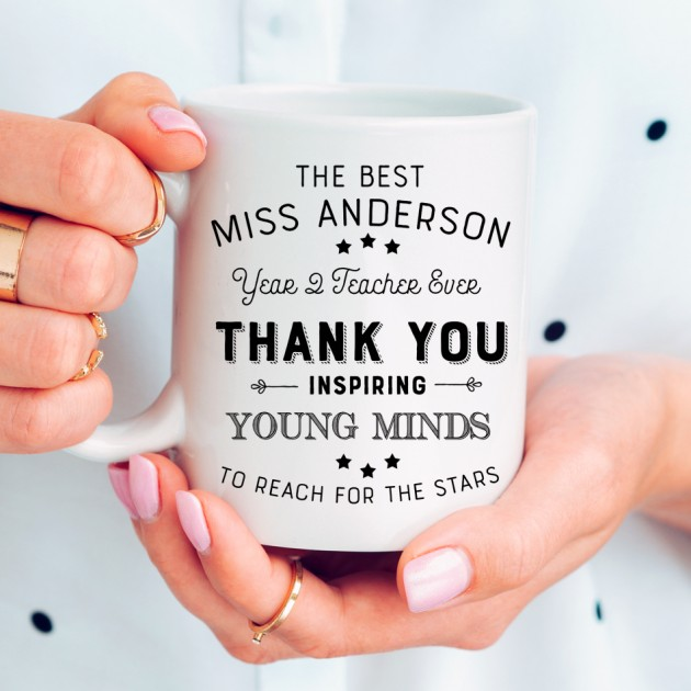 Hampers and Gifts to the UK - Send the Personalised Inspirational Teacher Mug