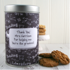 Hampers and Gifts to the UK - Send the Teachers Cookie Tin