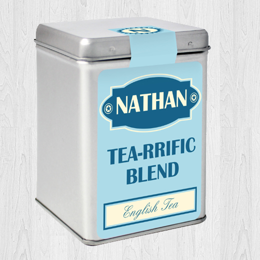 Hampers and Gifts to the UK - Send the Personalised Tea Caddy Tea-rrific Blend