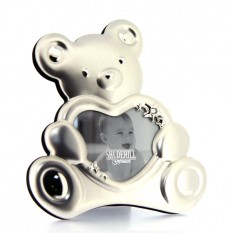 Hampers and Gifts to the UK - Send the Silver Teddy Photo Frame