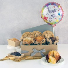 Hampers and Gifts to the UK - Send the Thank You Cookies, Muffins and Balloon Gift