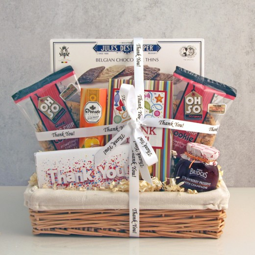 Hampers and Gifts to the UK - Send the Just to Say Thank You Gift Basket