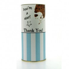 Hampers and Gifts to the UK - Send the Farrah's Thank You Cookies Drum