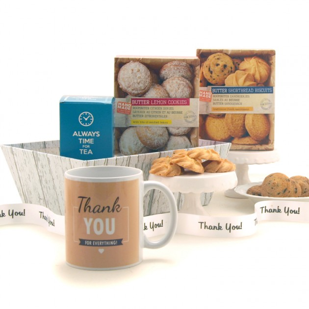 Hampers and Gifts to the UK - Send the Thank You Tea and Cookies Hamper