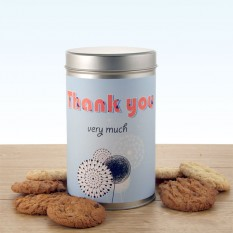 Hampers and Gifts to the UK - Send the Dandelion Thank You Tin with a Dozen Cookies