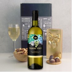 Hampers and Gifts to the UK - Send the Thank You Gold Crest Wine Gift