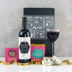 Hampers and Gifts to the UK - Send the Thank You So Much Chocolate and Wine Hamper