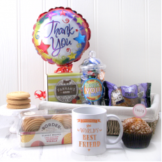 "Hampers and Gifts to the UK - Send the  The World's Best ""Any Name"" Thank You Gift Basket"