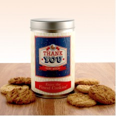 Hampers and Gifts to the UK - Send the Thank You Vintage Style Tin with a Dozen Cookies