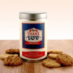 Hampers and Gifts to the UK - Send the Gift In a Tin - Thank You Cookies