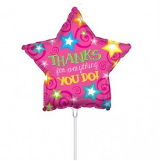 Hampers and Gifts to the UK - Send the Thanks For All You Do Mini Balloon