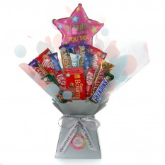 Hampers and Gifts to the UK - Send the Thanks For All You Do Chocolate Medley Bouquet