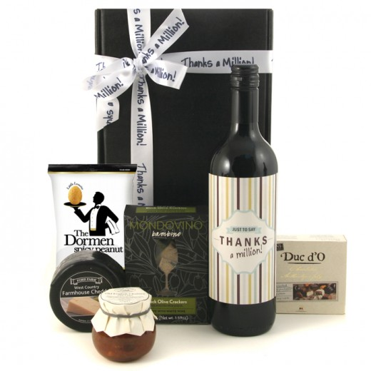 Hampers and Gifts to the UK - Send the Thanks A Million! Gift Box