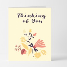 Hampers and Gifts to the UK - Send the Thinking of You Floral Card