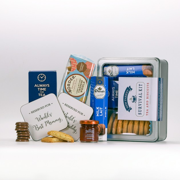 Hampers and Gifts to the UK - Send the New Parent Survival Kit Always Time for Tea