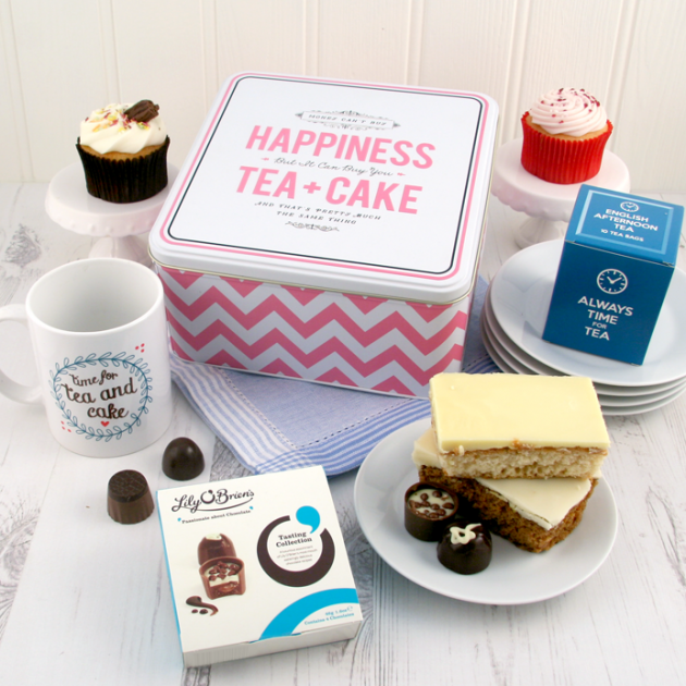 Hampers and Gifts to the UK - Send the Happiness Is Tea and Cake Gift