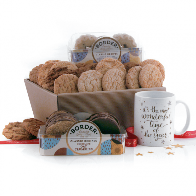 Hampers and Gifts to the UK - Send the It's The Most Wonderful Time of the Year Biscuit Hamper