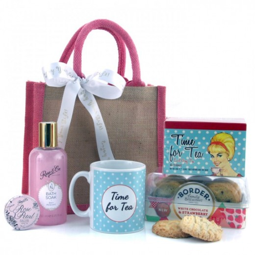 Hampers and Gifts to the UK - Send the Time for Tea Pamper Hamper