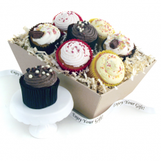 Hampers and Gifts to the UK - Send the Heavenly Cupcakes - Gift Tray