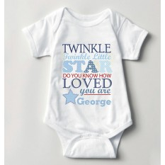 Hampers and Gifts to the UK - Send the Baby Boy Twinkle Little Star Vest