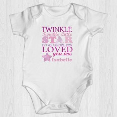 Hampers and Gifts to the UK - Send the Baby Girl Twinkle Little Star Vest