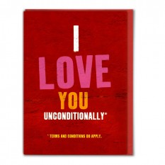 Hampers and Gifts to the UK - Send the I Love You Unconditionally Card