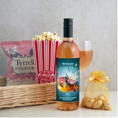 Hampers and Gifts to the UK - Send the Personalised Movie Time Hamper for Two