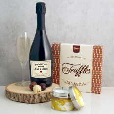 Hampers and Gifts to the UK - Send the Romantic Prosecco and Truffles