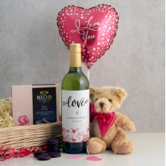 Hampers and Gifts to the UK - Send the Love and Cuddles Romantic Gift Basket
