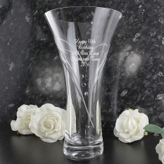 Hampers and Gifts to the UK - Send the Swarovski Heart Vase Personalised