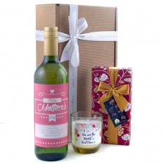 Hampers and Gifts to the UK - Send the Happy Mother's Day Wine and Chocolates Gift
