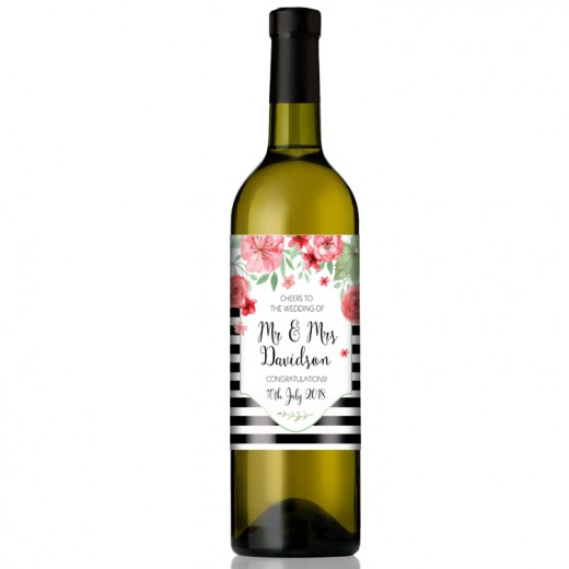 Hampers and Gifts to the UK - Send the Personalised Wedding Wine Gift