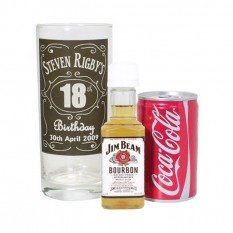 Hampers and Gifts to the UK - Send the Personalised Bourbon Whisky Miniature Set