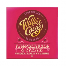 Hampers and Gifts to the UK - Send the Willie's Cacao Raspberries & Cream Chocolate Bar