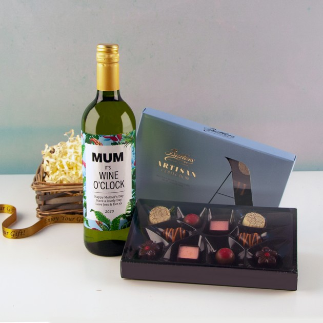 Hampers and Gifts to the UK - Send the  Personalised Any Name Keep Calm Wine Gift Basket